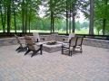 Versa - Lok segmental fire pit and walls with paver patio