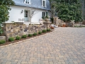custom fieldstone walls and columns