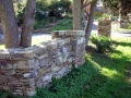 drystack fieldstone freestanding wall and columns