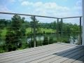 trex deck with stainless steel and cable railing system