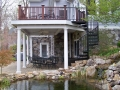 trex transcends deck with fiberglass columns and spiral stair