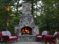 fieldstone fire place