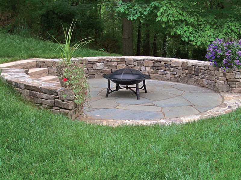 Patios walkways for Patio and retaining wall ideas