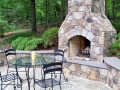 fieldstone seat wall with bluestone cap