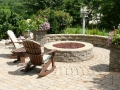 segmental seat wall and gas fire pit