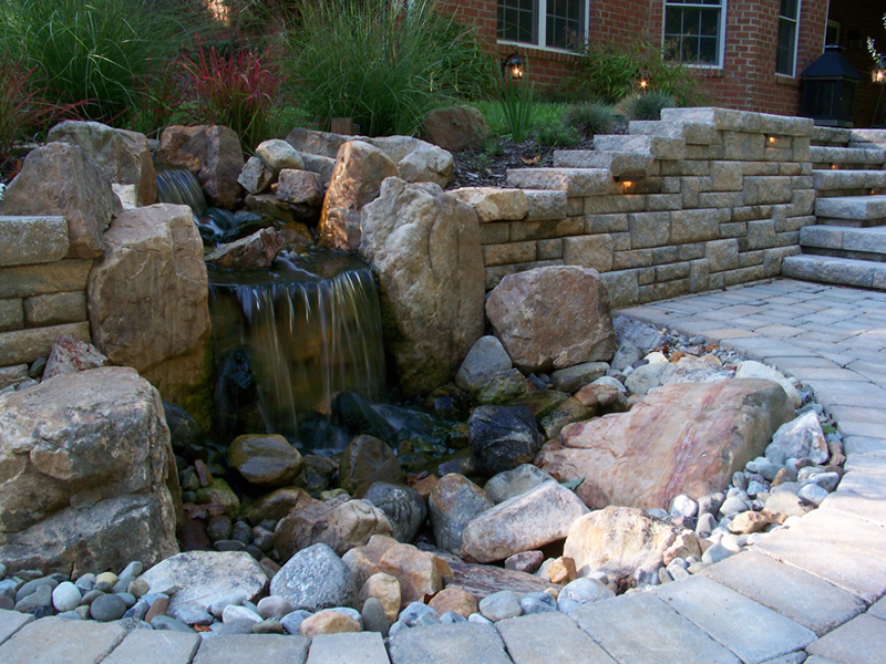 Dry Waterfall Landscape Design