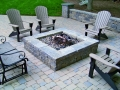 Versa-Lok Segmental wall and square fire pit, and paver patio